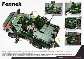 BlueBrixx 06053 Marke Xingbao – Spähwagen Fennek Bundeswehr