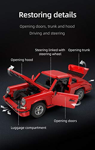 cada-c61045w-1429pcs-technik-master-retro-sportwagen-rs-kleines-baustein-modell-4