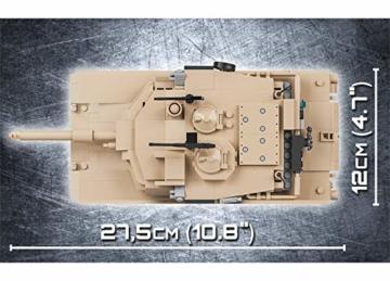 COBI 2619 M1A2 Abrams Panzer maße
