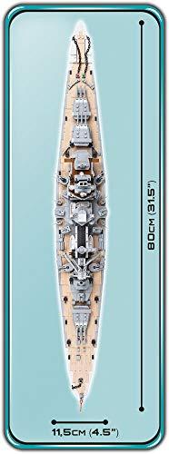 COBI 4818 Schlachtschiff Scharnhorst maße