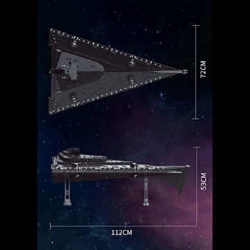 Mould King 21004 UCS Super Star Destroyer maße