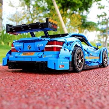 hyzh-mould-king-13073-technik-bausteine-sportwagen-bausatz-fuer-amg-c63-dtm-1989-klemmbausteine-2-4ghz-app-18-technic-ferngesteuert-rennauto-mit-motor-bauset-kompatibel-mit-lego-technik-3