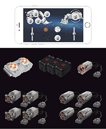 KEAYO Technik Bagger Ferngesteuert, Mould King 13130, Technik Terex RH400 Raupenbagger Modell, Groß MOC Klemmbausteine Bauset Kompatibel mit Lego Technic
