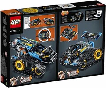 LEGO 42095 Technic Ferngesteuerter Stunt-Racer Spielzeug, 2-in-1-Rennwagen, Modell mit Motorfunktionen, Rennwagen-Kollektion - 13
