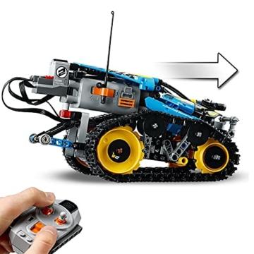 LEGO 42095 Technic Ferngesteuerter Stunt-Racer Spielzeug, 2-in-1-Rennwagen, Modell mit Motorfunktionen, Rennwagen-Kollektion - 3