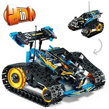 LEGO 42095 Technic Ferngesteuerter Stunt-Racer Spielzeug, 2-in-1-Rennwagen, Modell mit Motorfunktionen, Rennwagen-Kollektion - 4