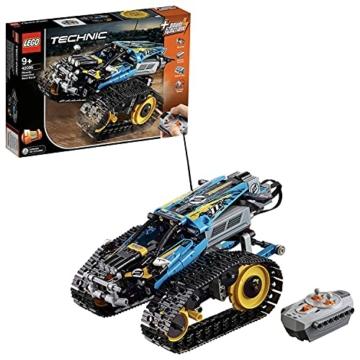 LEGO 42095 Technic Ferngesteuerter Stunt-Racer Spielzeug, 2-in-1-Rennwagen, Modell mit Motorfunktionen, Rennwagen-Kollektion - 1