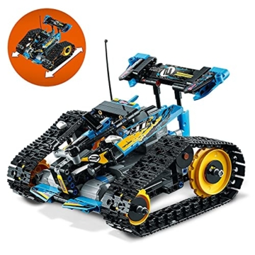 LEGO 42095 Technic Ferngesteuerter Stunt-Racer Spielzeug, 2-in-1-Rennwagen, Modell mit Motorfunktionen, Rennwagen-Kollektion - 5