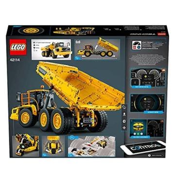 LEGO 42114 Technic Knickgelenkter Volvo-Dumper (6x6), ferngesteuertes Auto, Konstruktionsfahrzeug für Kinder und Erwachsene - 7