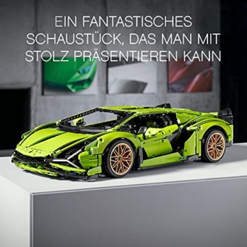 LEGO 42115 Technic Lamborghini Sián FKP 37 Rennwagen, Bauset für Erwachsene, Modellbausatz, Sammlerstück - 4