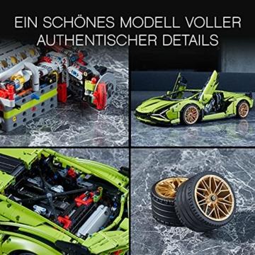 LEGO 42115 Technic Lamborghini Sián FKP 37 Rennwagen, Bauset für Erwachsene, Modellbausatz, Sammlerstück - 5