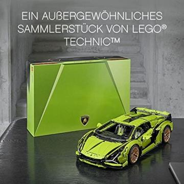 LEGO 42115 Technic Lamborghini Sián FKP 37 Rennwagen, Bauset für Erwachsene, Modellbausatz, Sammlerstück - 6