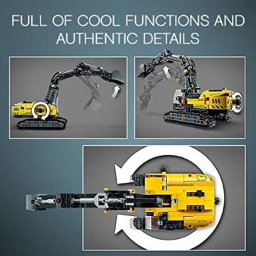 LEGO 42121 Technic Hydraulikbagger Bauset, 2-in-1 Modell, Baufahrzeug, Bagger Spielzeug ab 8 Jahren, Konstruktionsspielzeug - 11
