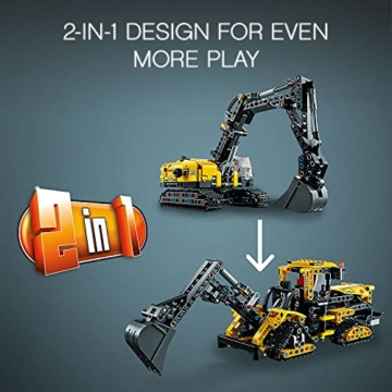 LEGO 42121 Technic Hydraulikbagger Bauset, 2-in-1 Modell, Baufahrzeug, Bagger Spielzeug ab 8 Jahren, Konstruktionsspielzeug - 12