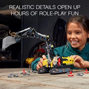 LEGO 42121 Technic Hydraulikbagger Bauset, 2-in-1 Modell, Baufahrzeug, Bagger Spielzeug ab 8 Jahren, Konstruktionsspielzeug - 13