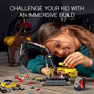 LEGO 42121 Technic Hydraulikbagger Bauset, 2-in-1 Modell, Baufahrzeug, Bagger Spielzeug ab 8 Jahren, Konstruktionsspielzeug - 14