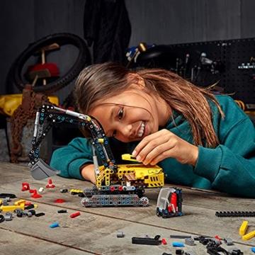 LEGO 42121 Technic Hydraulikbagger Bauset, 2-in-1 Modell, Baufahrzeug, Bagger Spielzeug ab 8 Jahren, Konstruktionsspielzeug - 16