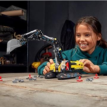 LEGO 42121 Technic Hydraulikbagger Bauset, 2-in-1 Modell, Baufahrzeug, Bagger Spielzeug ab 8 Jahren, Konstruktionsspielzeug - 17