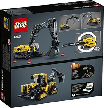 LEGO 42121 Technic Hydraulikbagger Bauset, 2-in-1 Modell, Baufahrzeug, Bagger Spielzeug ab 8 Jahren, Konstruktionsspielzeug - 19