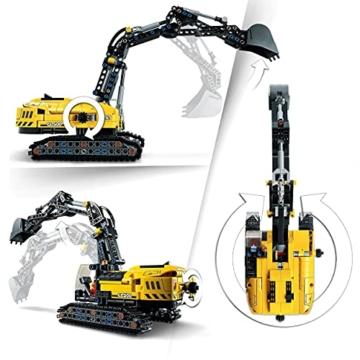 LEGO 42121 Technic Hydraulikbagger Bauset, 2-in-1 Modell, Baufahrzeug, Bagger Spielzeug ab 8 Jahren, Konstruktionsspielzeug - 3