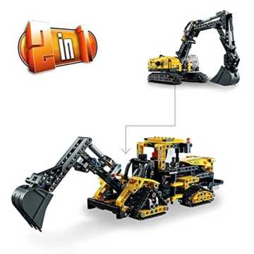 LEGO 42121 Technic Hydraulikbagger Bauset, 2-in-1 Modell, Baufahrzeug, Bagger Spielzeug ab 8 Jahren, Konstruktionsspielzeug - 4