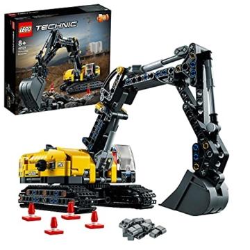 LEGO 42121 Technic Hydraulikbagger Bauset, 2-in-1 Modell, Baufahrzeug, Bagger Spielzeug ab 8 Jahren, Konstruktionsspielzeug - 1