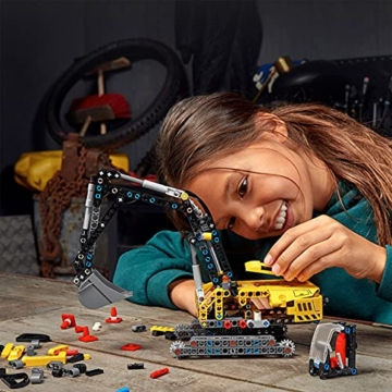 LEGO 42121 Technic Hydraulikbagger Bauset, 2-in-1 Modell, Baufahrzeug, Bagger Spielzeug ab 8 Jahren, Konstruktionsspielzeug - 6