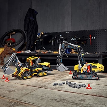 LEGO 42121 Technic Hydraulikbagger Bauset, 2-in-1 Modell, Baufahrzeug, Bagger Spielzeug ab 8 Jahren, Konstruktionsspielzeug - 9