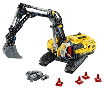 LEGO 42121 Technic Hydraulikbagger Bauset, 2-in-1 Modell, Baufahrzeug, Bagger Spielzeug ab 8 Jahren, Konstruktionsspielzeug - 10