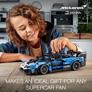 LEGO 42123 Technic McLaren Senna GTR Rennauto, Fahrzeug Bausatz, Modellauto, Geschenk für Kinder ab 10 Jahre und Erwachsene - 13