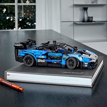 LEGO 42123 Technic McLaren Senna GTR Rennauto, Fahrzeug Bausatz, Modellauto, Geschenk für Kinder ab 10 Jahre und Erwachsene - 18