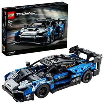 LEGO 42123 Technic McLaren Senna GTR Rennauto, Fahrzeug Bausatz, Modellauto, Geschenk für Kinder ab 10 Jahre und Erwachsene - 1