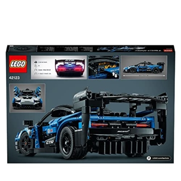 LEGO 42123 Technic McLaren Senna GTR Rennauto, Fahrzeug Bausatz, Modellauto, Geschenk für Kinder ab 10 Jahre und Erwachsene - 8