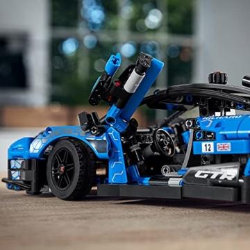 LEGO 42123 Technic McLaren Senna GTR Rennauto, Fahrzeug Bausatz, Modellauto, Geschenk für Kinder ab 10 Jahre und Erwachsene - 9