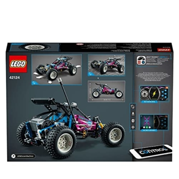 LEGO 42124 Technic Geländewagen Buggy Control App-gesteuertes Retro Rennwagenspielzeug für Kinder