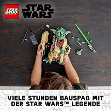 Lego 75255 Star Wars Yoda Bauset, Sammlermodell mit Displayständer, Angriff der Klonkrieger Kollektion - 2