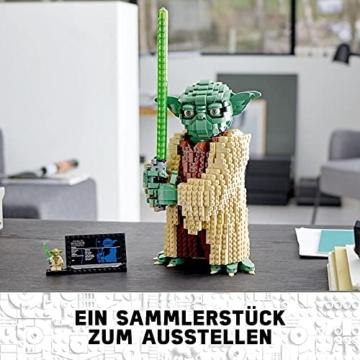 Lego 75255 Star Wars Yoda Bauset, Sammlermodell mit Displayständer, Angriff der Klonkrieger Kollektion - 3