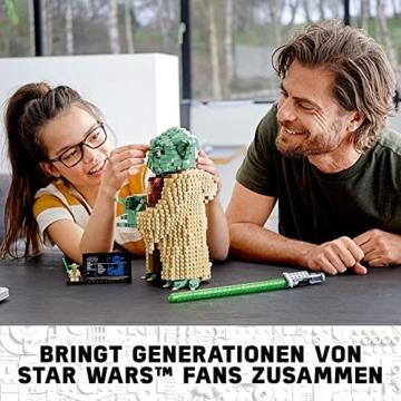 Lego 75255 Star Wars Yoda Bauset, Sammlermodell mit Displayständer, Angriff der Klonkrieger Kollektion - 4