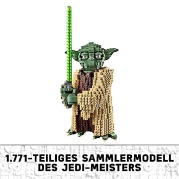 Lego 75255 Star Wars Yoda Bauset, Sammlermodell mit Displayständer, Angriff der Klonkrieger Kollektion - 6
