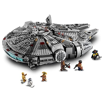 LEGO 75257 Star Wars Millennium Falcon Raumschiff Bauset mit Finn, Chewbacca, Lando Calrissian, Boolio, C-3PO, R2-D2 und D-O, Der Aufstieg Skywalkers Kollektion - 2