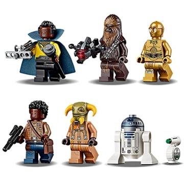 LEGO 75257 Star Wars Millennium Falcon Raumschiff Bauset mit Finn, Chewbacca, Lando Calrissian, Boolio, C-3PO, R2-D2 und D-O, Der Aufstieg Skywalkers Kollektion - 3