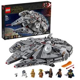 LEGO 75257 Star Wars Millennium Falcon Raumschiff Bauset mit Finn, Chewbacca, Lando Calrissian, Boolio, C-3PO, R2-D2 und D-O, Der Aufstieg Skywalkers Kollektion - 1