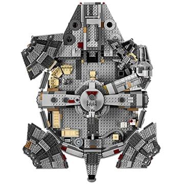 LEGO 75257 Star Wars Millennium Falcon Raumschiff Bauset mit Finn, Chewbacca, Lando Calrissian, Boolio, C-3PO, R2-D2 und D-O, Der Aufstieg Skywalkers Kollektion - 4