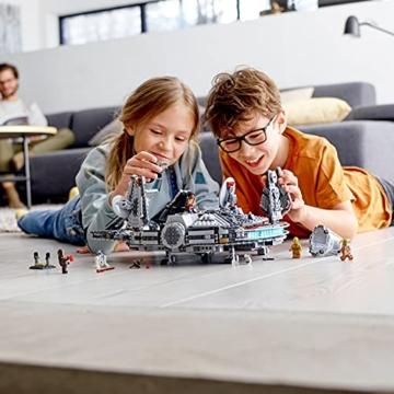 LEGO 75257 Star Wars Millennium Falcon Raumschiff Bauset mit Finn, Chewbacca, Lando Calrissian, Boolio, C-3PO, R2-D2 und D-O, Der Aufstieg Skywalkers Kollektion - 6