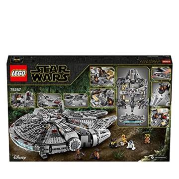 LEGO 75257 Star Wars Millennium Falcon Raumschiff Bauset mit Finn, Chewbacca, Lando Calrissian, Boolio, C-3PO, R2-D2 und D-O, Der Aufstieg Skywalkers Kollektion - 8