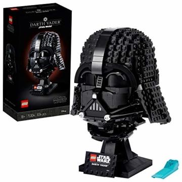 LEGO75304StarWarsDarth-VaderHelmBausetfürErwachsene,Deko,Geschenkidee,ModellzumBauenundAusstellen - 1
