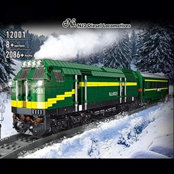 Mould King 12001 grüne lok