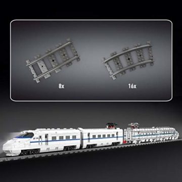 Mould King 12002 Hochgeschwindigkeitszug gleise