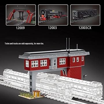 Mould King 12009 Zugbahn Signalturm
