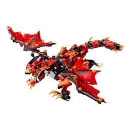 Mould King 13019 ferngesteuerter Roter Drachen